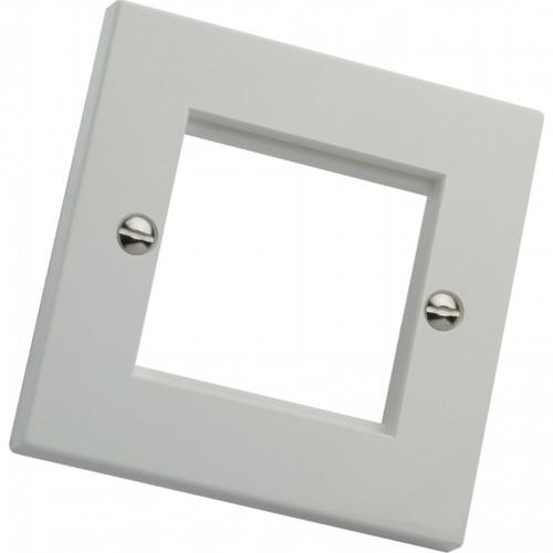CMW Ltd    Excel Single Gang Faceplate - White