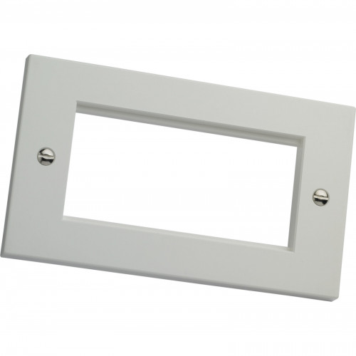 CMW Ltd  | Excel White Double Gang Flat Plate Without Blanks