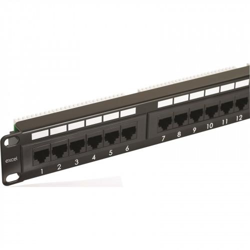 CMW Ltd, Structured Cabling Copper Patchcord | Excel 1U 24 Port Cat 5e Patch Panel