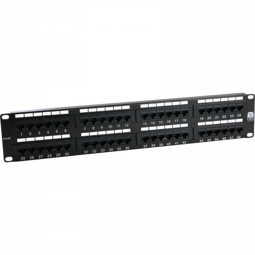 CMW Ltd, Structured Cabling Copper Patch Panel | EXCEL C5E 2U 48 PORT UTP PATCH PANEL BLACK