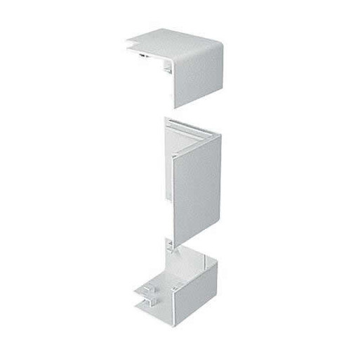 Marshall Tufflex PVC - U White Sterling Profile 3 3 Compartment Square Dado External Angle (Each)