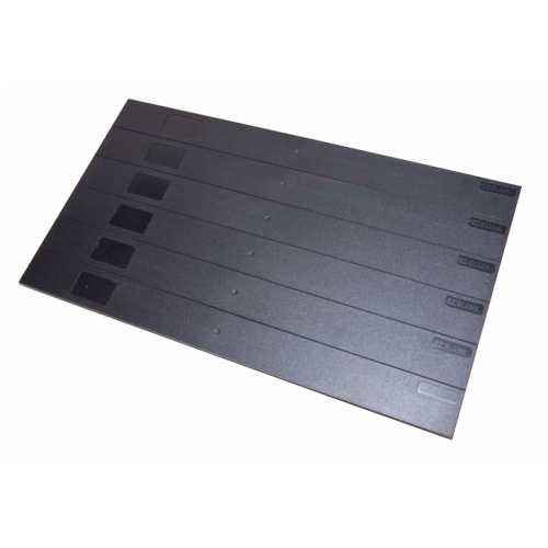 Black Eziblank Blanking Panels ( 6U Sheets ) (Pack / 10)