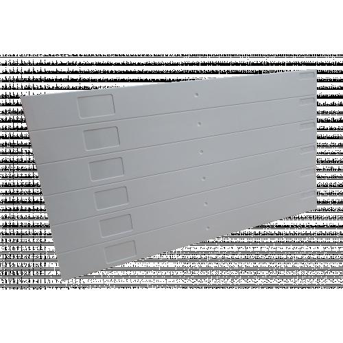 Grey Eziblank Blanking Panels ( 6U Sheets ) (Pack / 10)