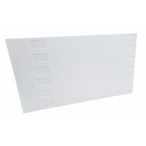White Eziblank Blanking Panels ( 6U Sheets ) (Pack / 10)