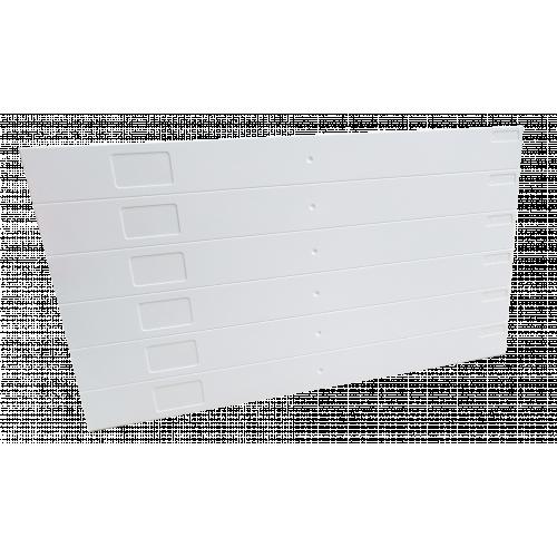 White Eziblank Blanking Panels ( 6U Sheets ) (Pack / 10)