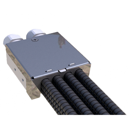 Fibre Cable Breakout Unit for multi loose tube cables, with up to 12 conduit outputs - complete with 24metre of 10mm flexible conduit