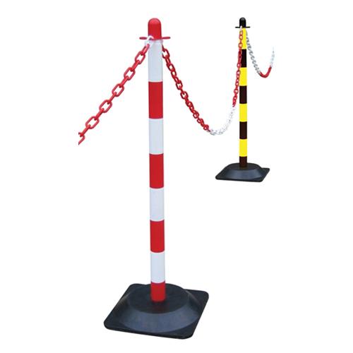 CMW Ltd    Red / White Plastic Post for Chain