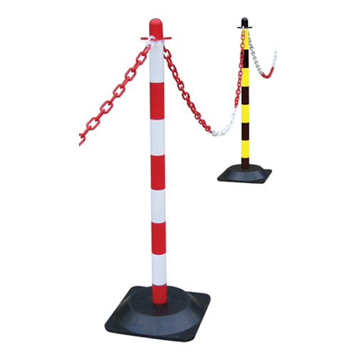 Yellow / Black Plastic Post for Chain (Each)