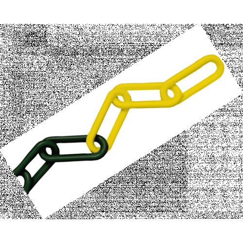CMW Ltd    8mm Yellow / Black Plastic Chain