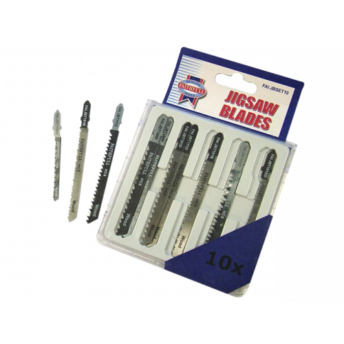 10 Piece Set of Jigsaw Blades (Each)