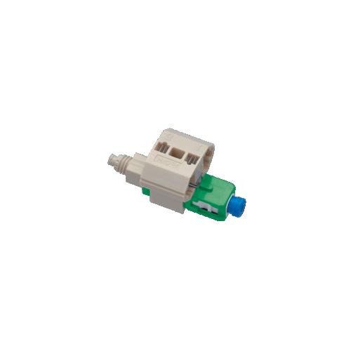 CMW Ltd Fujikura   FAST LC Connector, Singlemode - APC, suitable for 250/900 micron fibre - Pack of 10 (Pack of 10)