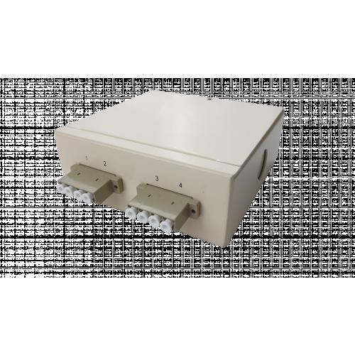 Multimode - 2 x LC Quad 8 Way Fibre box (Each)