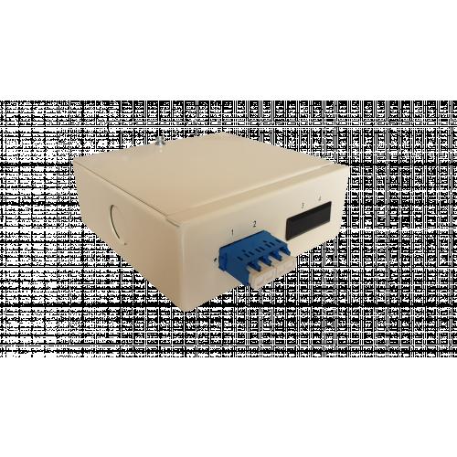 CMW Ltd  | Singlemode - 1 x LC Quad 4 Way Fibre Wall Mount Breakout Box
