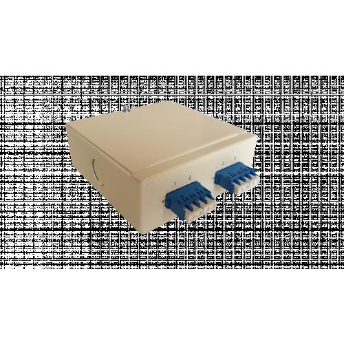 CMW Ltd  | Singlemode - 2 x LC Quad 8 Way Fibre Wall Mount Breakout Box