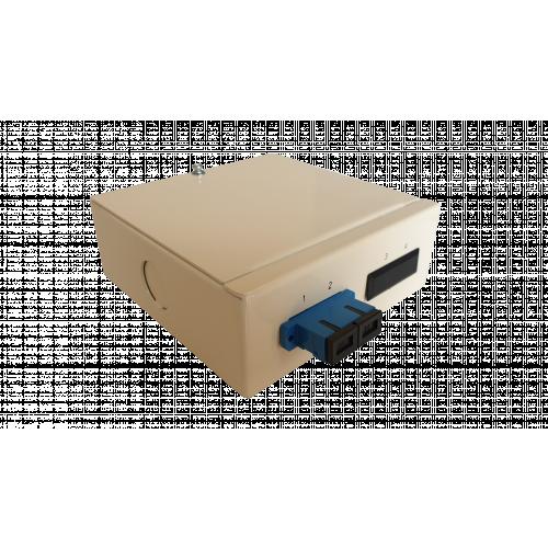Singlemode - 1 x SC Duplex 2 Way Fibre box (Each)