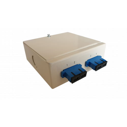 CMW Ltd  | Singlemode - 2 x SC 2 Position Duplex 4 Way Fibre Wall Mount Breakout Box