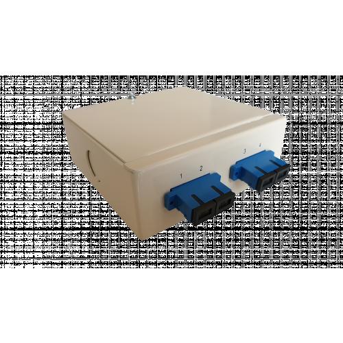 CMW Ltd  | Singlemode - 2 x SC 2 Position Duplex 4 Way Fibre Wall Mount Breakout Box