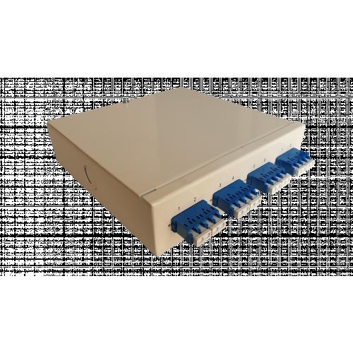 Singlemode - 4 x LC Quad 16 Way Fibre Wall Mount Breakout Box (Each)