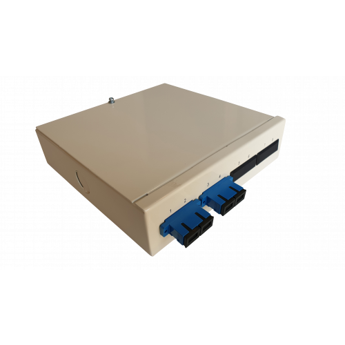 Singlemode - 2 x SC Duplex 4 Way Fibre Wall Mount Breakout Box (Each)