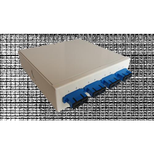 Singlemode - 4 x SC Duplex 8 Way Fibre Wall Mount Breakout Box (Each)