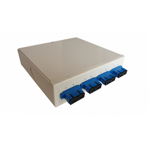 CMW Ltd  | Singlemode - 4 x SC Duplex 8 Way Fibre Wall Mount Breakout Box