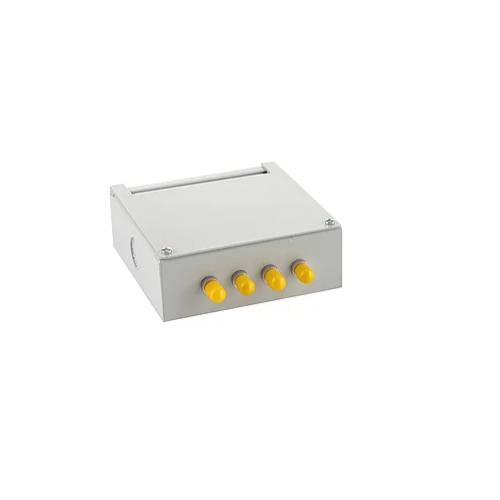 Singlemode - 4 x ST Simplex 4 Way Fibre Wall Mount Breakout Box (Each)