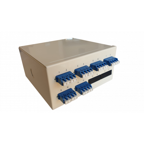 Singlemode - 6 x LC Quad 24 Way Fibre Wall Mount Breakout Box (Each)