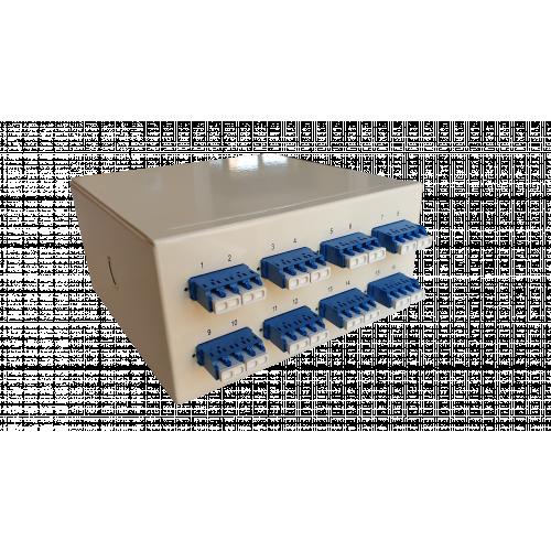 Singlemode - 8 x LC Quad 32 Way Fibre Wall Mount Breakout Box (Each)