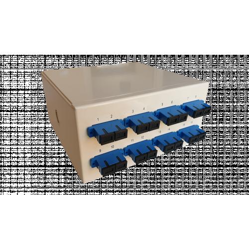 Singlemode - 8 x SC Duplex 16 Way Fibre Wall Mount Breakout Box (Each)