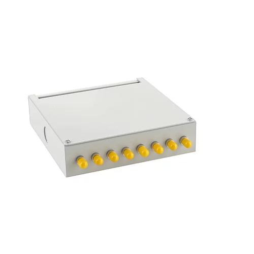 Singlemode - 8 x ST Simplex 8 Way Fibre Wall Mount Breakout Box (Each)