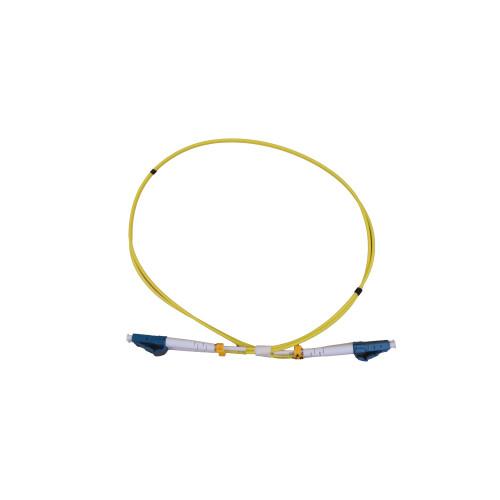 CMW Ltd Fibreoptic Patch Lead   0.5m LC-LC singlemode - 2mm duplex patchcord YELLOW