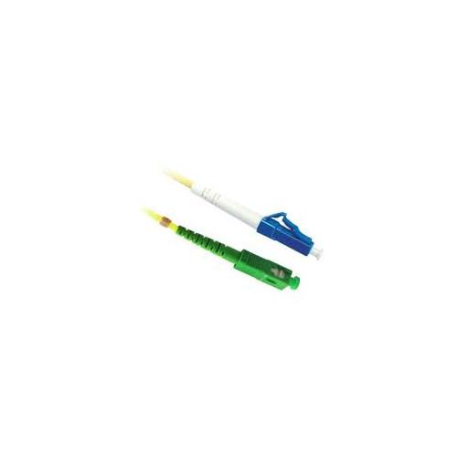 CMW Ltd Fibreoptic Patch Lead | 1m LC/UPC-SC/APC Singlemode Simplex Patchcord Yellow 2mm