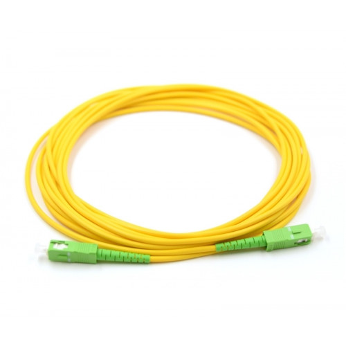 3m OS2 SC/APC to SC/APC Singlemode Simplex Fibre Lead Yellow 2mm