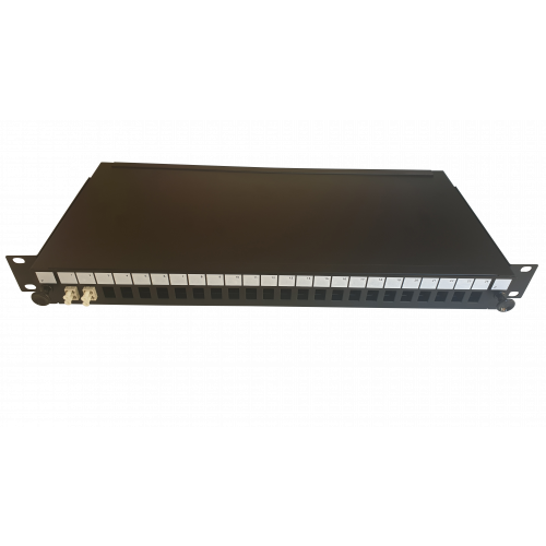 LC Duplex 4 port 24 position patch panel loaded with 2 LC duplex multimode adaptors (Each)