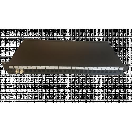CMW Ltd  | LC Duplex 4 port 24 position patch panel loaded with 2 LC duplex multimode adaptors