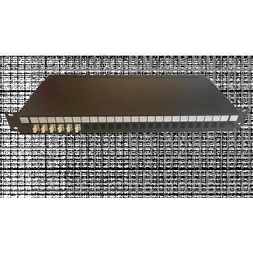 CMW Ltd  | LC Duplex 12 port 24 position patch panel loaded with 6 LC duplex multimode adaptors