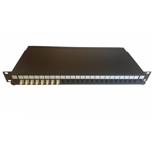 LC Duplex 16 port 24 position patch panel loaded with 8 LC duplex multimode adaptors (Each)