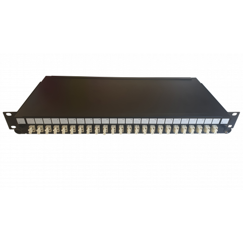 LC Duplex 48 port 24 position patch panel loaded with 24 LC duplex multimode adaptors (Each)