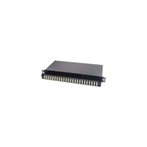 SC Duplex 48 port 24 position patch panel loaded with 24 SC duplex multimode adaptors (Each)