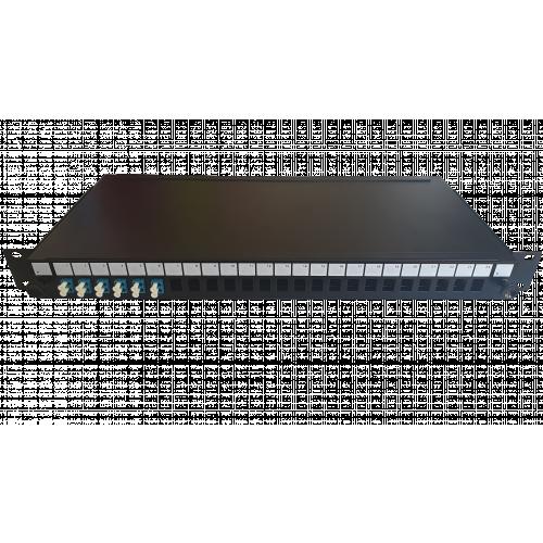 LC Duplex 12 port 24 position patch panel loaded with 6 LC duplex singlemode adaptors (Each)