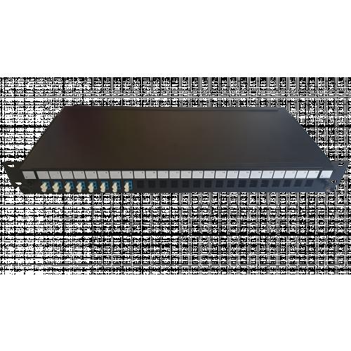LC Duplex 16 port 24 position patch panel loaded with 8 LC duplex singlemode adaptors (Each)