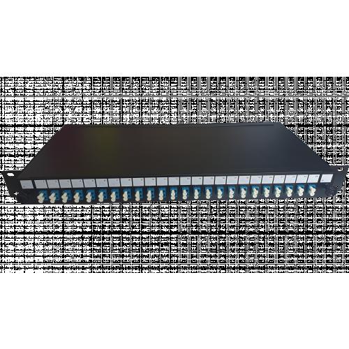 CMW Ltd  | LC Duplex 48 port 24 position patch panel loaded with 24 LC duplex singlemode adaptors