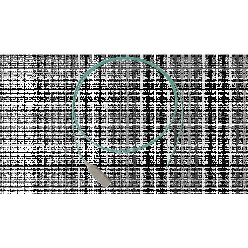 OM3-1m SC 50/125um pigtail Aqua (Each)