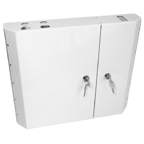 Singlemode - 12 x LC Quad, 48 Way Double door wall boxes (Each)