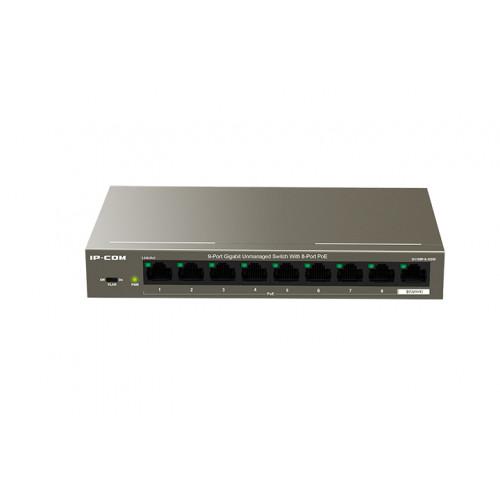 IP-Com G1109P-8-102W   9-Port Gigabit Unmanaged Switch With 8-Port PoE