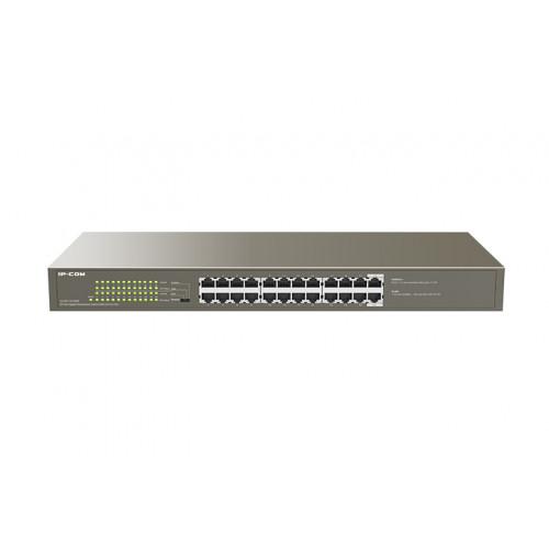 IP-Com G1124P-24-250W   24-Port Gigabit Rackmount Switch With 24-Port PoE
