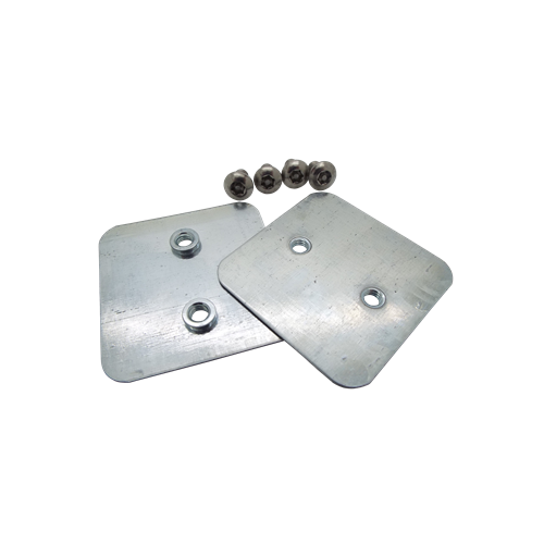 100mm Tamper Proof Galvanised Trunking Couplers (Per pair)