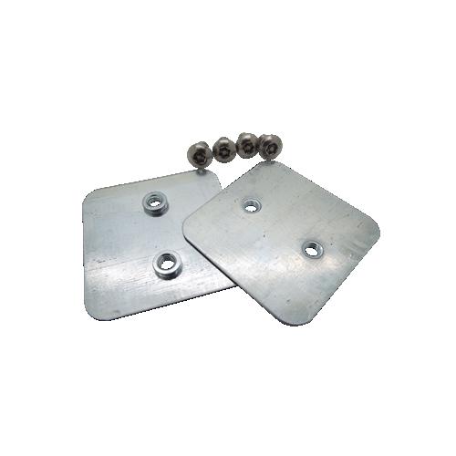 CMW Ltd, Algar, Galvanised Cable Trunking  | 100mm Tamper Proof Galvanised Trunking Couplers (Per pair)