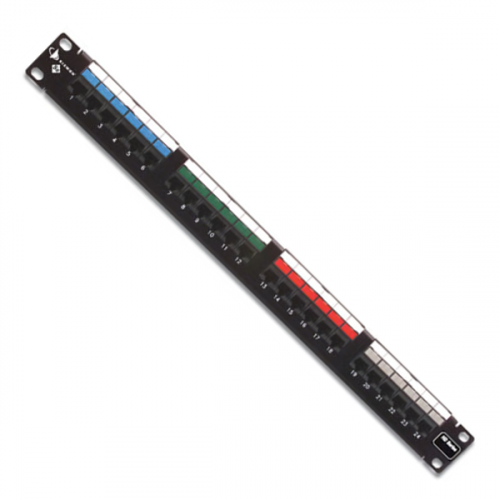 Siemon 24 Port Cat 5e HD Patch Panel C/W Rear Cable Management