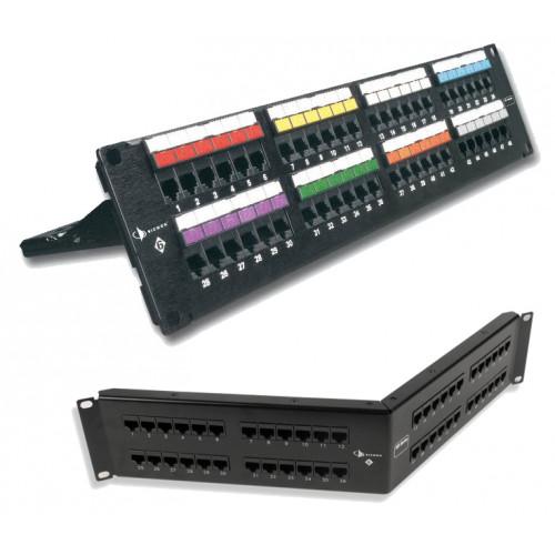 Siemon 24 Port Cat6 UTP 1U HD Patch Panel c/w Rear Cable Management (Each)